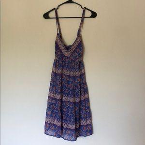 Crossback Flowy Bohemian Dress